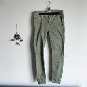 Zara Army Green Jeans